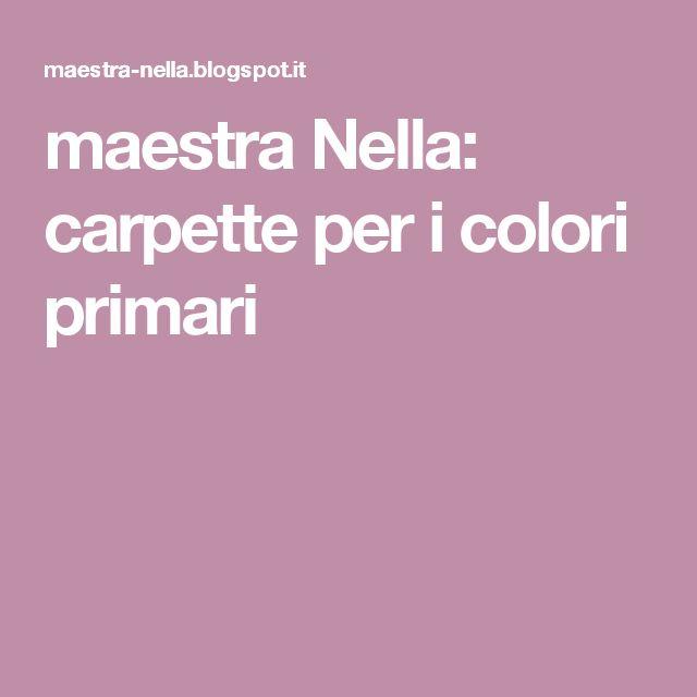Oltre 25 fantastiche idee su colori primari su pinterest for Maestra nella il libro dei colori
