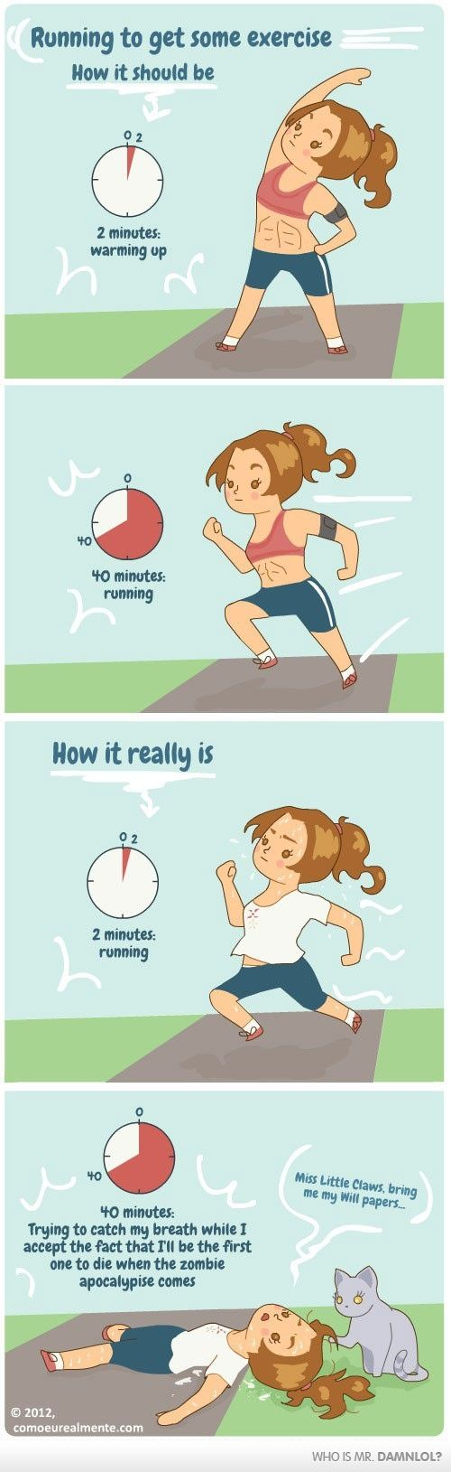 lol so true: Zombies Apocalypse, Real Life, Funny Pics, Funny Pictures, Running Humor, Fit Program, So True, Funny Photo, True Stories