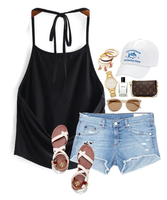 """Super Hot & Dusty Out"" by prep-eq ❤ liked on Polyvore featuring rag & bone/JEAN, Tory Burch, Yves Saint Laurent, Kate Spade, Bobbi Brown Cosmetics and Louis Vuitton"