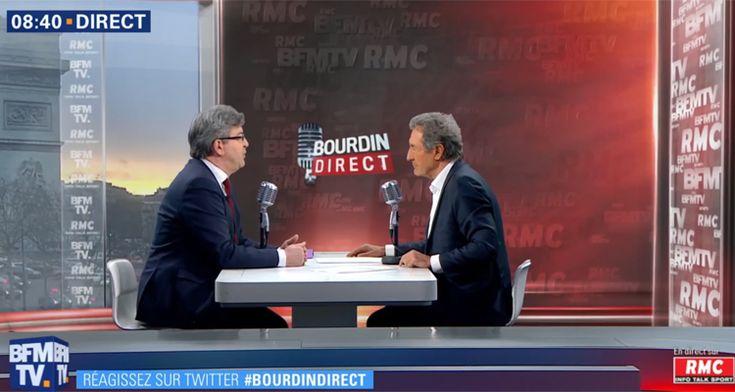 Bourdin direct: Jean-Luc Mélenchon fait exploser l'audience de Jean-Jacques Bourdin sur BFM TV