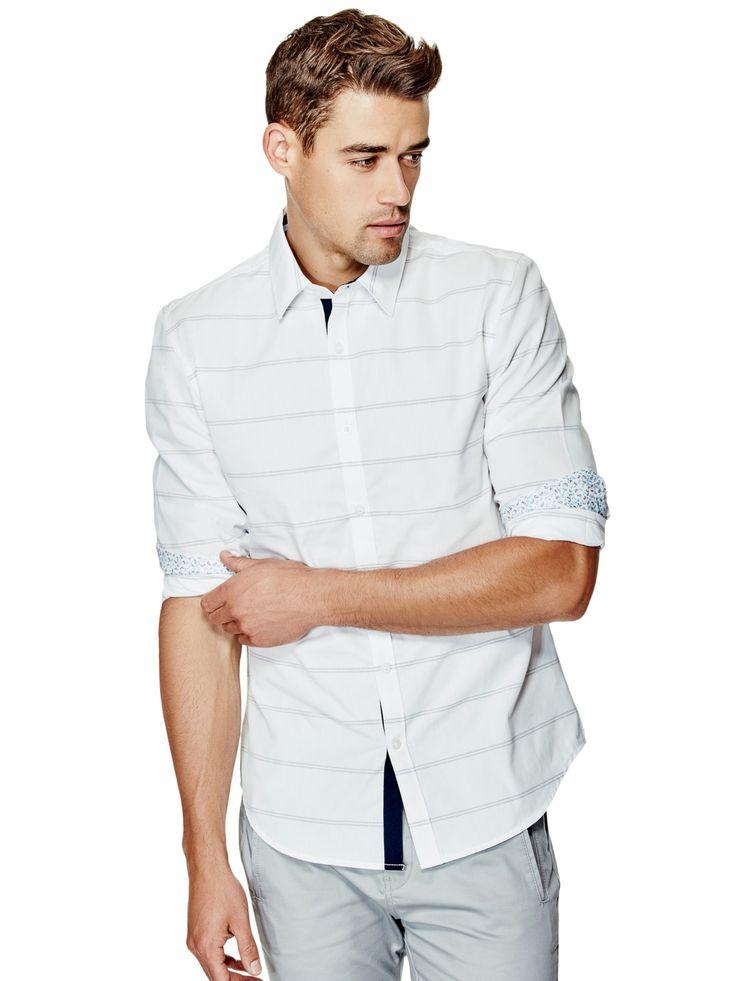 Caselli Long-Sleeve Striped Shirt