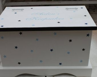 Keepsake box chest baby memory box personalized por staciedale
