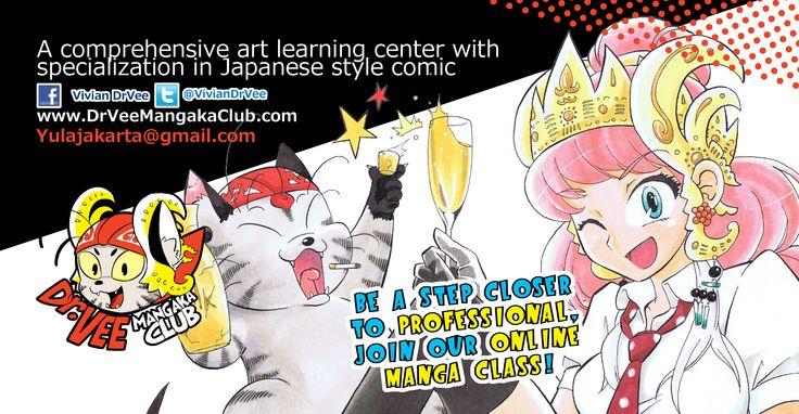 The best International Online Manga learning center for future professional manga creators.  www.DrVeeMangakaClub.com