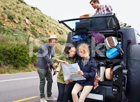 Planning the perfect road trip – lizenzfreie Stock-Fotografie