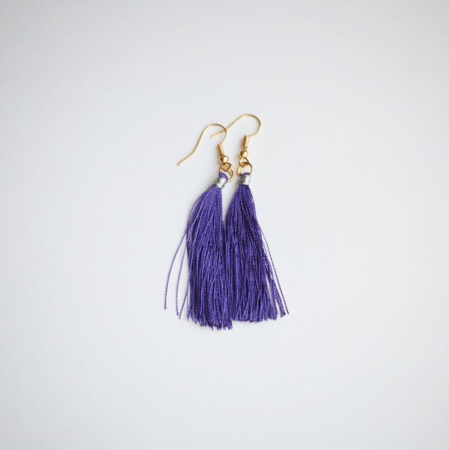 Fair Trade Tassel Earrings! Handmade with love in India. Empowers women + brings family together + provides sustainable jobs.