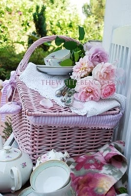 ~I love to make Pink Picnics for my guests when they visit me at the cottage