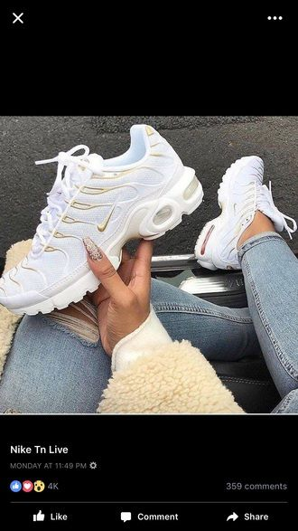 Image result for nike tns white and gold