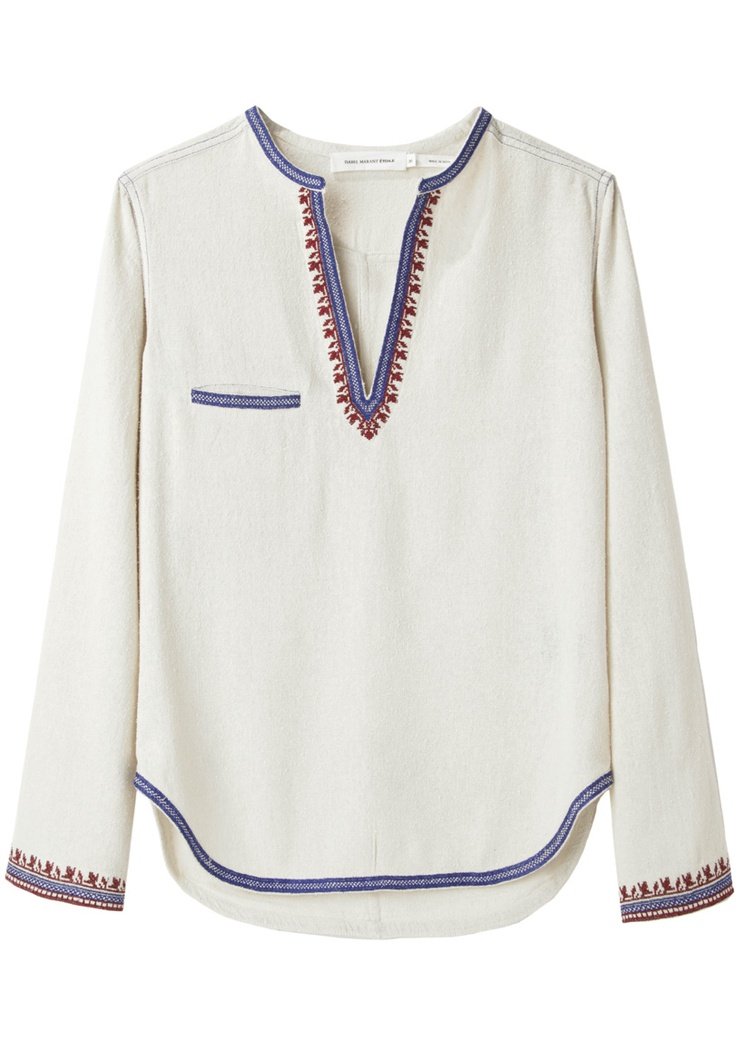 Étoile Isabel Marant / Demie Embroidered Top | La Garçonne
