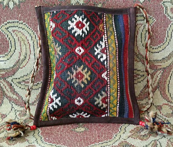 Kilim Rug Bag Women Handbag Ethnic Shoulder Bag by OtantikArt