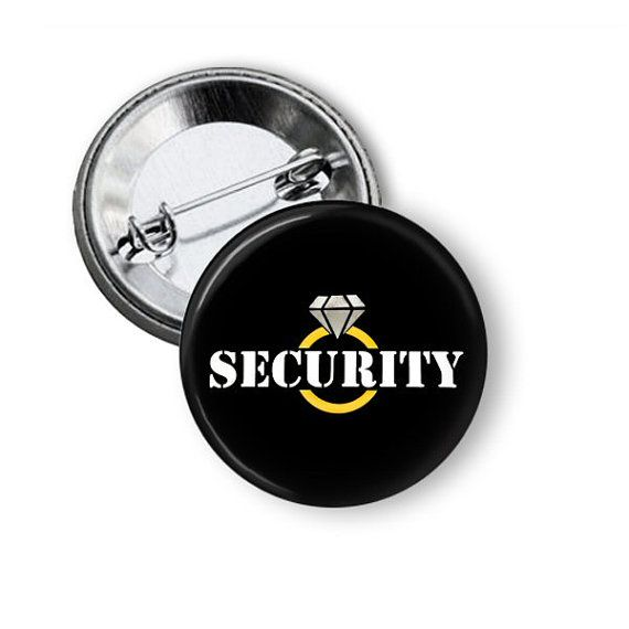 Ring Security Button Ring Security Agent Bling by NannyGoatsCloset