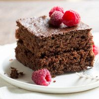 Introducing Pomroy's All Purpose Baking Mix! Use it like flour to make your favorite cookies, cakes, muffins, and more -- like this Decadent Cacao Cake from our blog!