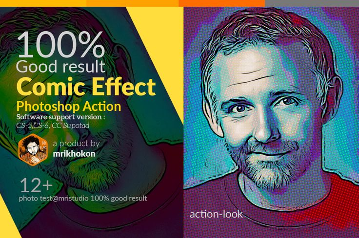 Comic Effect Photoshop Action by MRI STUDIO on @creativemarket
