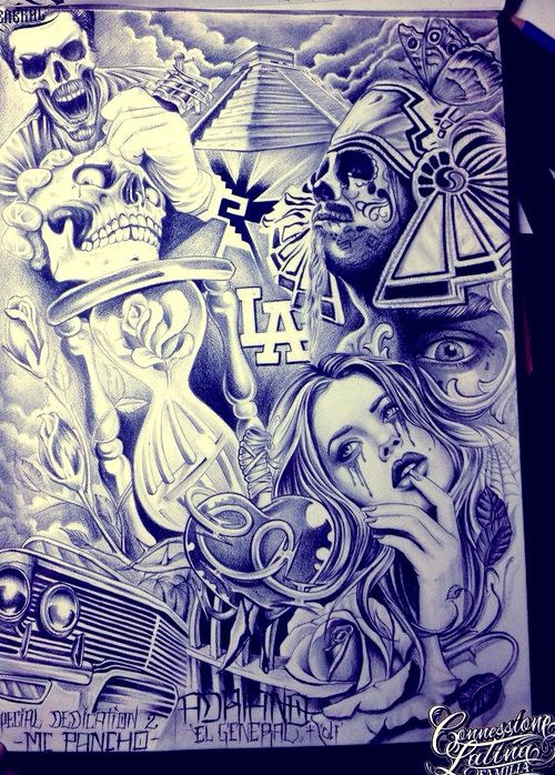 Lowrider Arte Drawings Tatto | Chicano Art Drawings Lowrider Arte Wallpaper Pictures