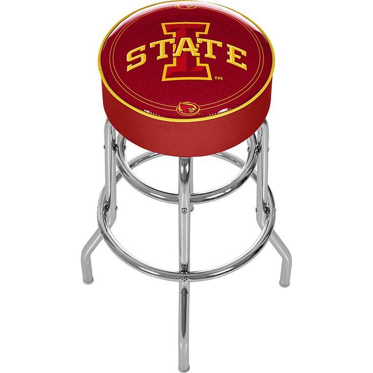 Trademark Global, Inc. Iowa State University Padded Bar Stool