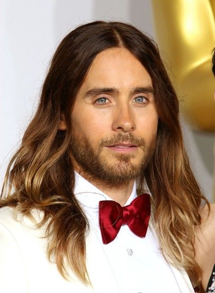 Jared Leto - Press Room at the 86th Annual Academy Awards — March 2014 - ombre highlighted hair - men's hair