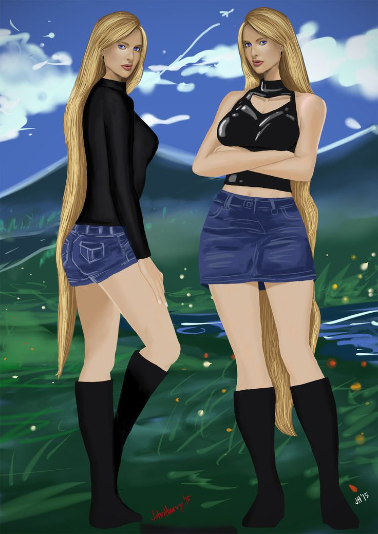 Lucy Blade and Linda Blade (OC) by JohnHeavy.deviantart.com on @DeviantArt