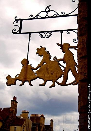 Scotland, Lothian, Edinburgh, Detail of the signage of the Museum of Childhood in Edinburgh