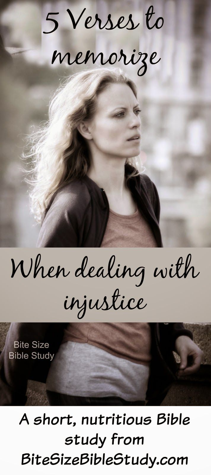 This 1-minute devotion offers 5 Bible verses that will help you deal with injustice in your life.
