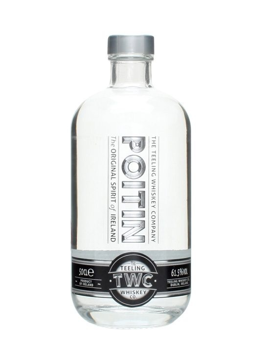 Teeling Whisky Co Poitin : Buy Online - The Whisky Exchange - A punchy bottling of the infamous Irish moonshine known as Poitin, put together by the folks of the Teeling Whisky Company. A blend of double-distilled malt spirit and triple distilled maize spirit...