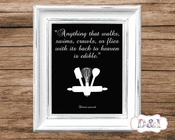 Kitchen - Wall Art Print ~ Instant download, JPG PDF Printable