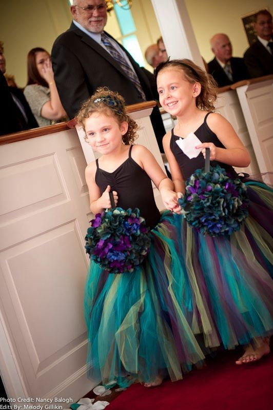 Peacock Flower Girl Full Length Tulle Skirt by tallulahandbelle, $119.95...