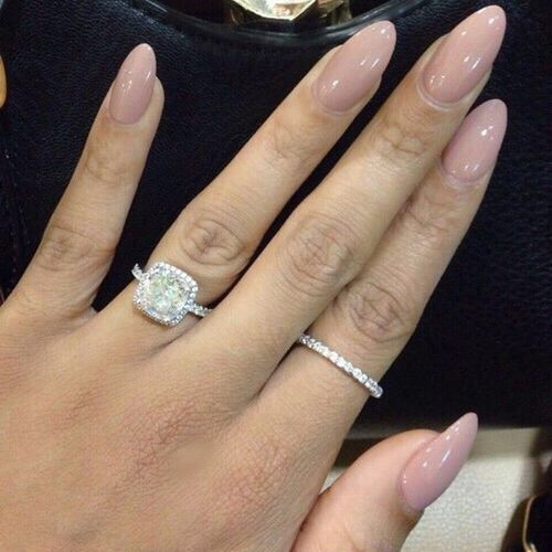 Nude Oval/Almond Nails