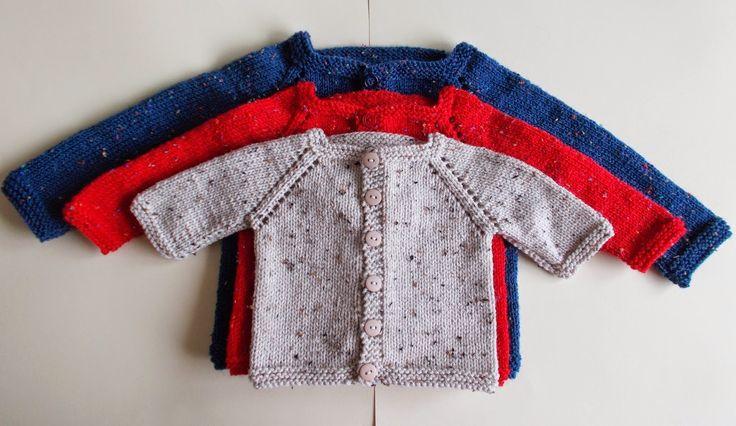 marianna's lazy daisy days: Max Baby Cardigan Jacket - with eyelet raglan detailing