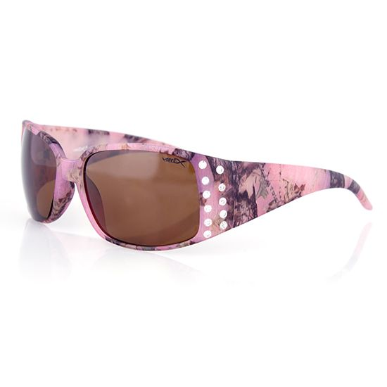 Women's Country Girl Pink Camo Sunglasses w/Rhinestones