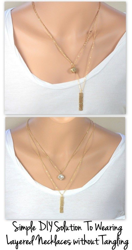 I LOVE the layered look of dainty necklaces worn at different lengths but I stopped wearing them because they would constantly get twisted together and look like a mess. Usually the clasps would co…