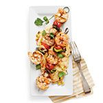Grilled Shrimp and Smoky Grilled-Corn Grits Recipe | MyRecipes.com