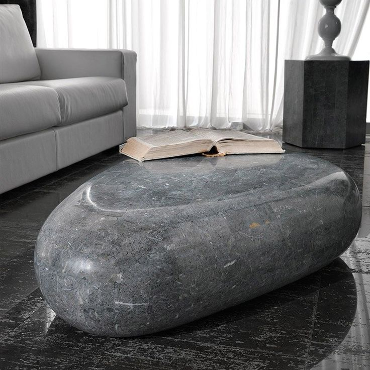 Stone Base Small Table Coffee Table Design Artistic Furniture Coffee Table White