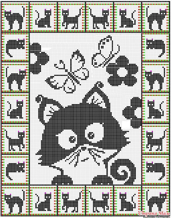 Cat graphgan. For crochet but I would do cross stitch or needle point. and like OMG! get some yourself some pawtastic adorable cat apparel!