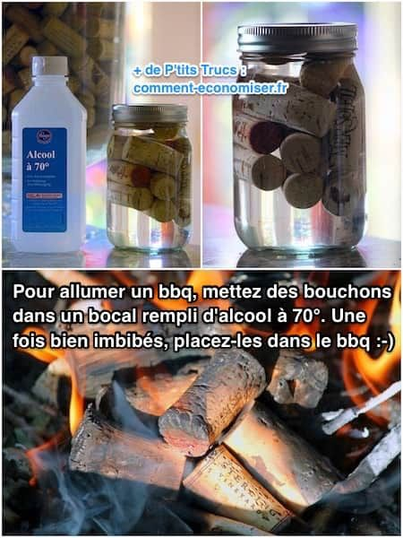 Vous n'avez plus d'allume-feux pour allumer votre barbecue ?  L'astuce est d'utiliser des bouchons ou du Sopalin. Regardez :-)  Découvrez l'astuce ici : http://www.comment-economiser.fr/plus-besoin-acheter-allume-feu-pour-bbq-fabriquez-en-5-min.html