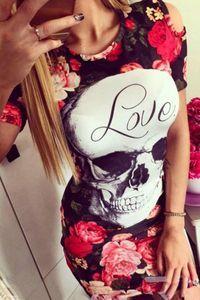 Dámske kvetované šaty Skull