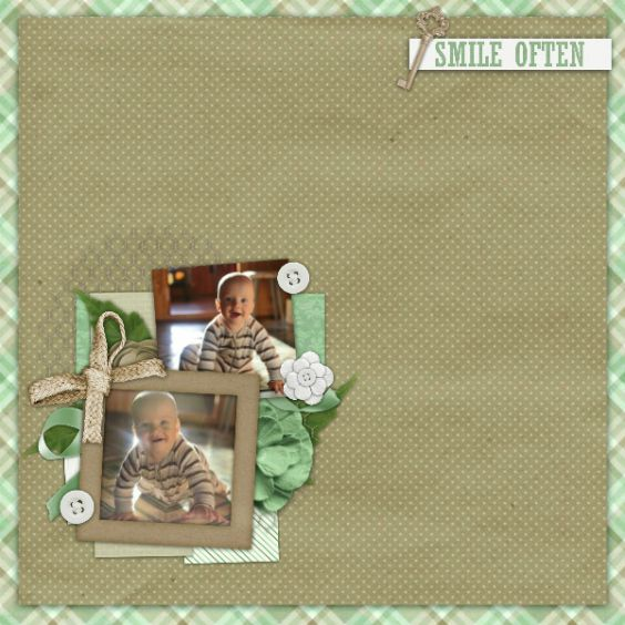 Created with Blessed Mini kit and A year of blessings August 2017 Template by Blue Heart Scraps