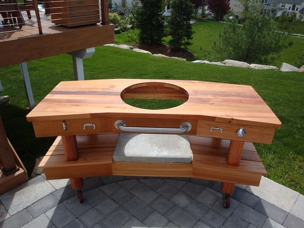 New Cedar Egg Table   Big Green Egg   EGGhead Forum   The Ultimate Cooking  Experience... | Grilling Big Green Egg | Pinterest | Green Eggs, ...