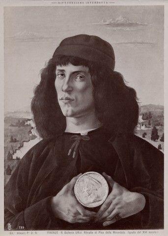 Ritratto di Pico della Mirandola. (Ignoto del XVI secolo.)