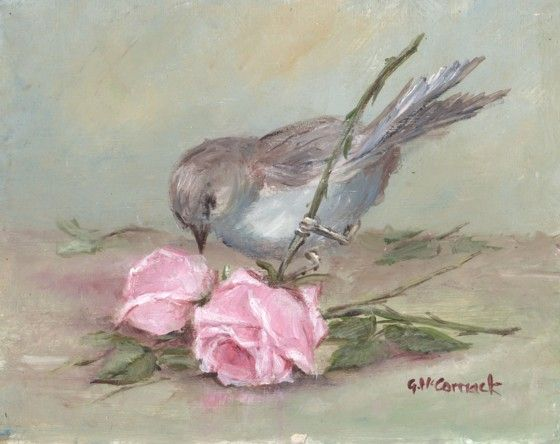 """""""Sweet  Bird And Roses"""" ... by Gail McCormack"""