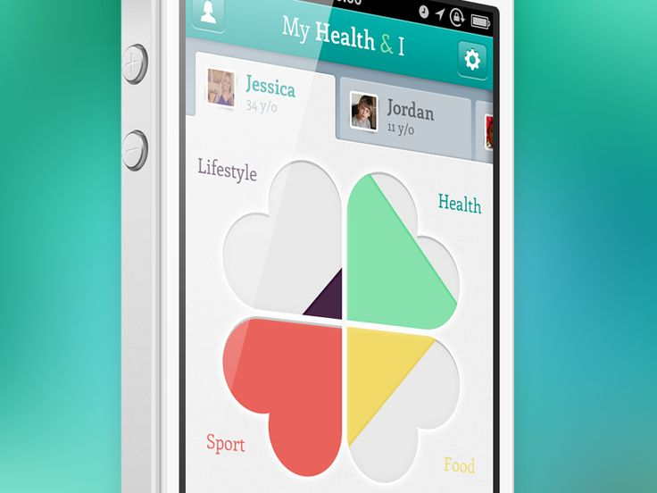 *Amazingly cute idea for diet app.  My Health iPhone app by Johan Marie