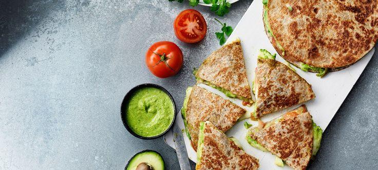 Quesadillas med avokado & mozzarella