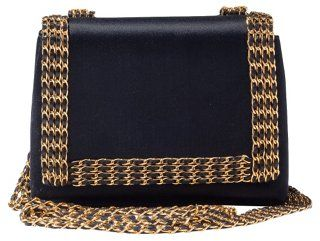 Chanel Black Satin Chain Bag