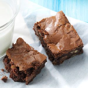 Ultimate Double Chocolate Brownies Recipe from Taste of Home