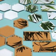 Mirrored Tiles - Sets of 18