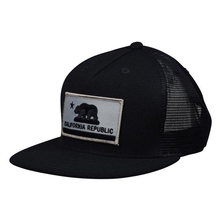California Republic Flag Trucker Hat by LET'S BE IRIE - Black