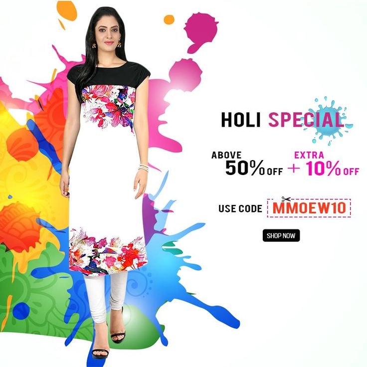 The most colourful days of the year are BACK!  Grab exclusive #ethnic styles to add fun and glamour to your festive celebrations.#Shop your favourites now: https://goo.gl/nW5RHr Use #coupon code : MMOEW10 & avail extra 10% off!