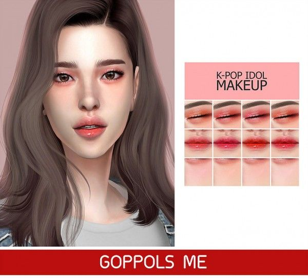 Make Up Kpop Idol Makeup From Goppols Me Sims 4 Downloads Sims 4 Sims 4 Anime The Sims 4 Skin