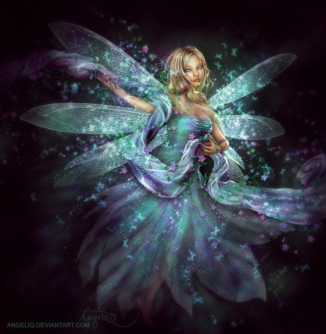 Blue fairy illustration: