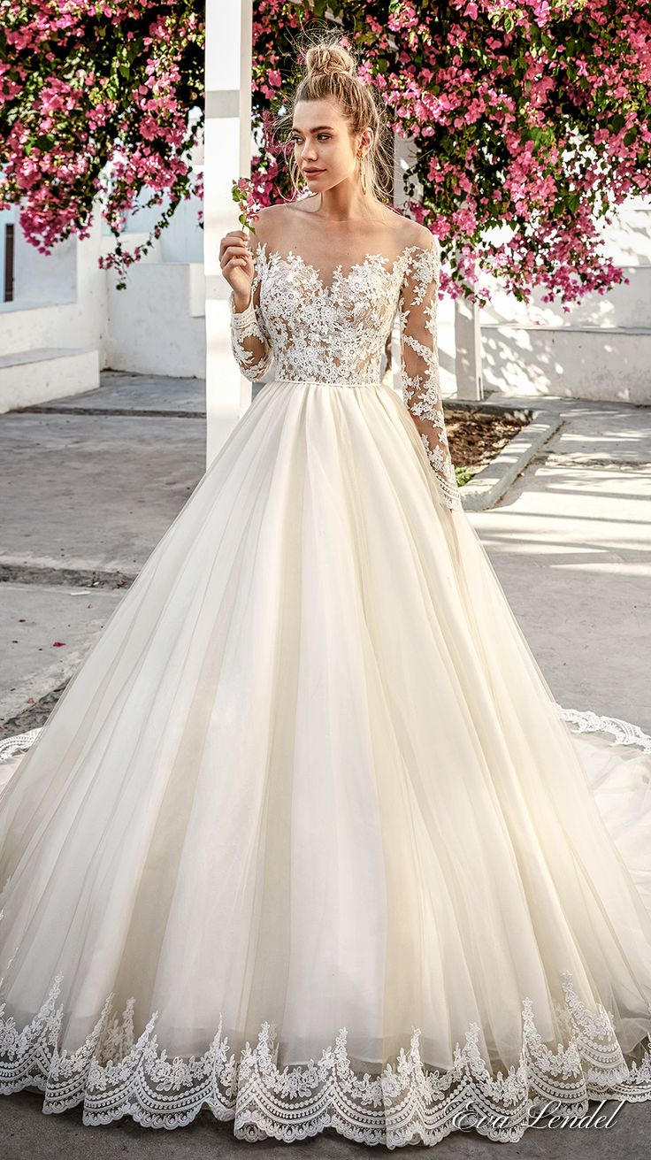 1298 best long sleeve wedding gowns images on pinterest for Unique wedding dress styles