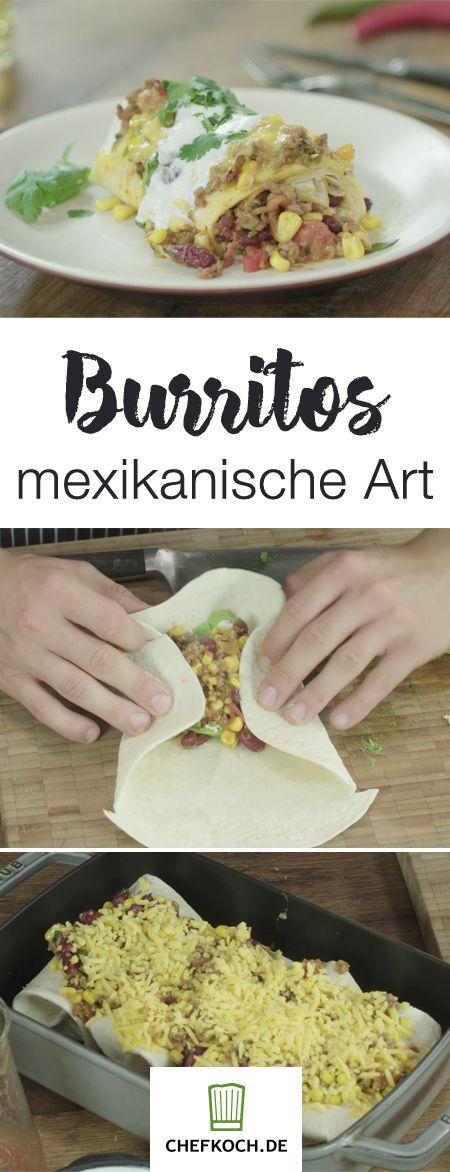 Mit Käse überbackene Burritos gefällig?  Fabio zeigt euch alles Wissenwerte im Video auf Chefkoch.