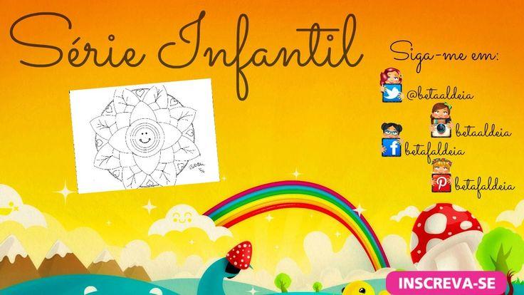 Série Infantil - Mandala flor sorridente